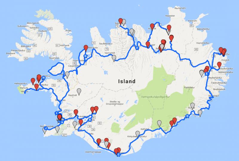 Eine Runde Island