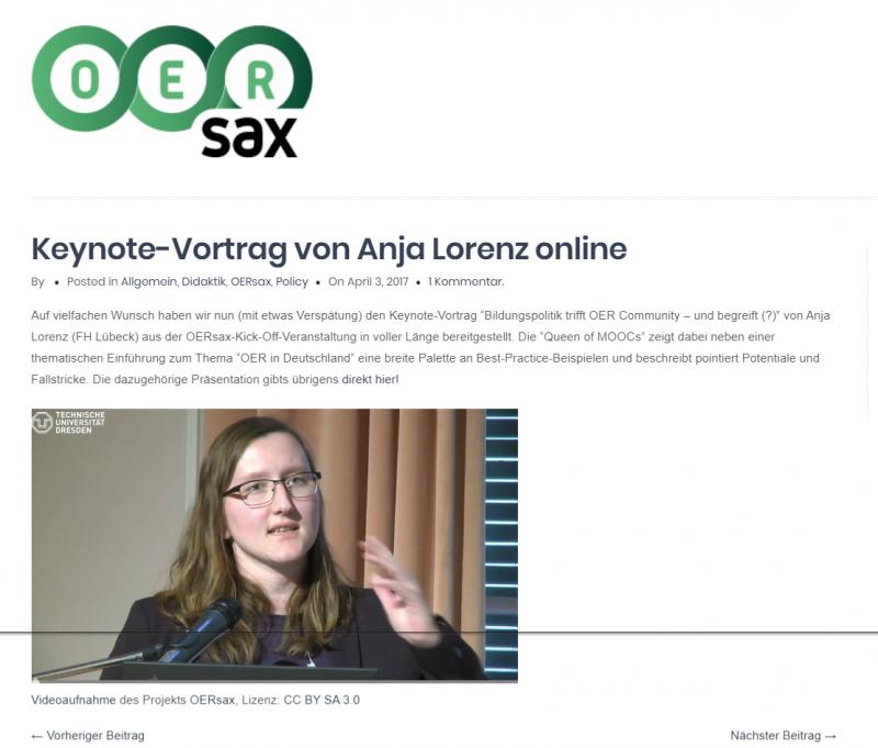 Keaynote OERsax